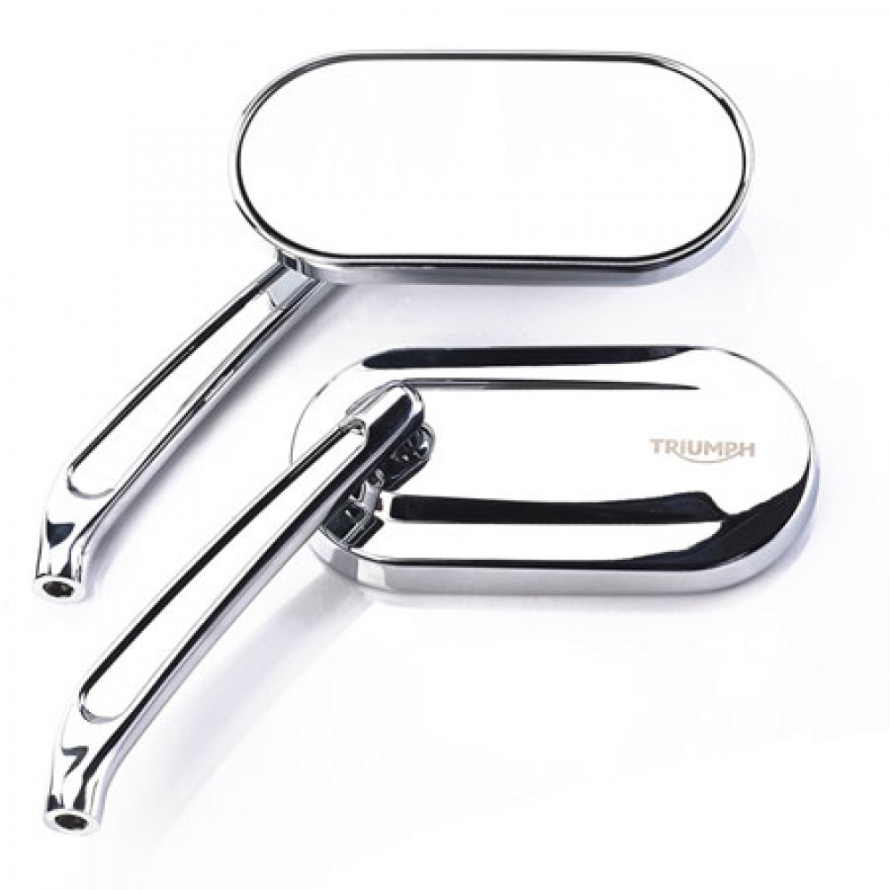 OVAL MIRRORS (CHROME) - TRIUMPH MOTORCYCLE