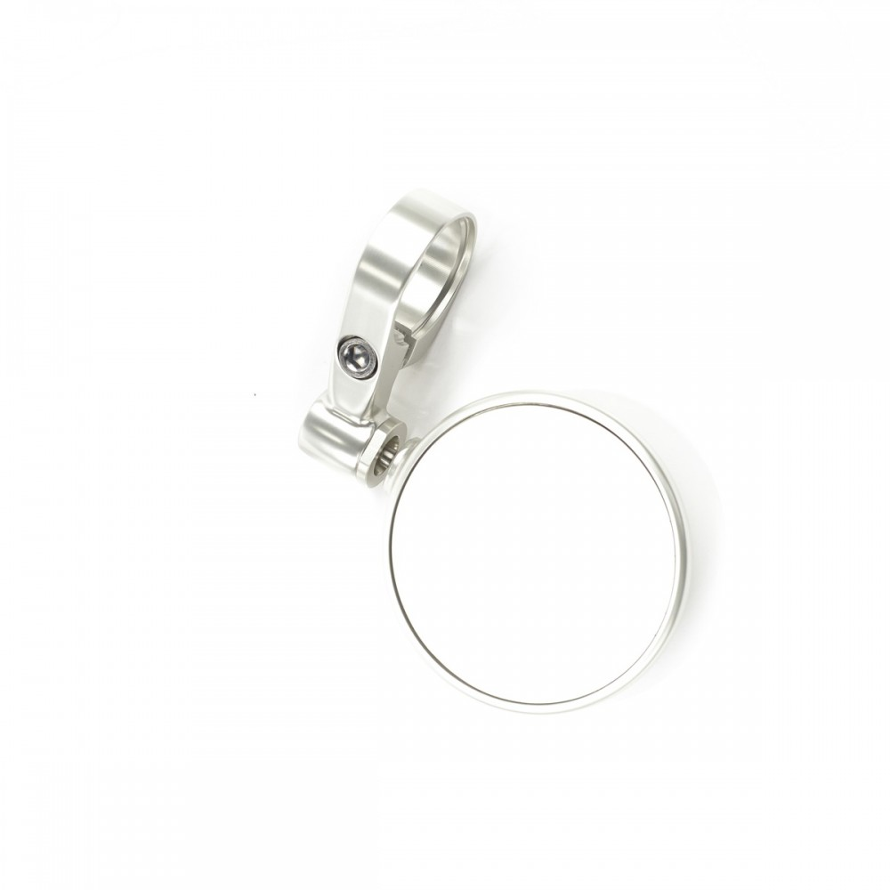 ROUND 70MM BAR END MIRRORS (SILVER) - TRIUMPH MOTORCYCLE