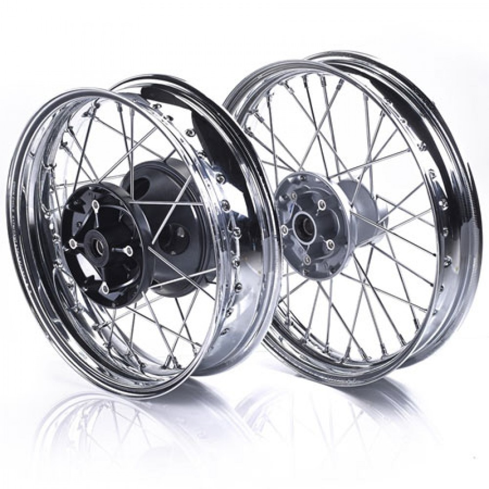SPOKED CHROME WHEELS - STREET TWIN, CUP & BONNEVILLE T100