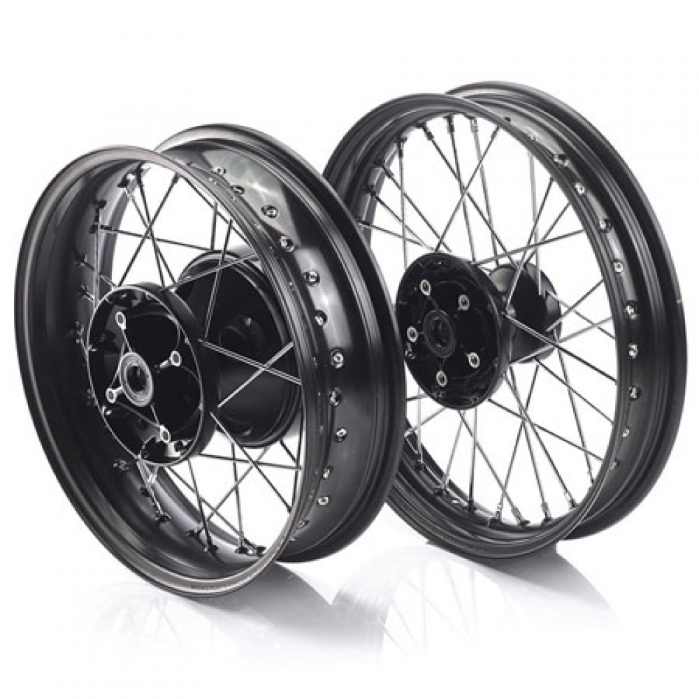 SPOKED BLACK WHEELS - STREET TWIN, CUP & BONNEVILLE T100