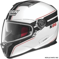 N86 RAPID HELMET - WHITE, BLACK & RED