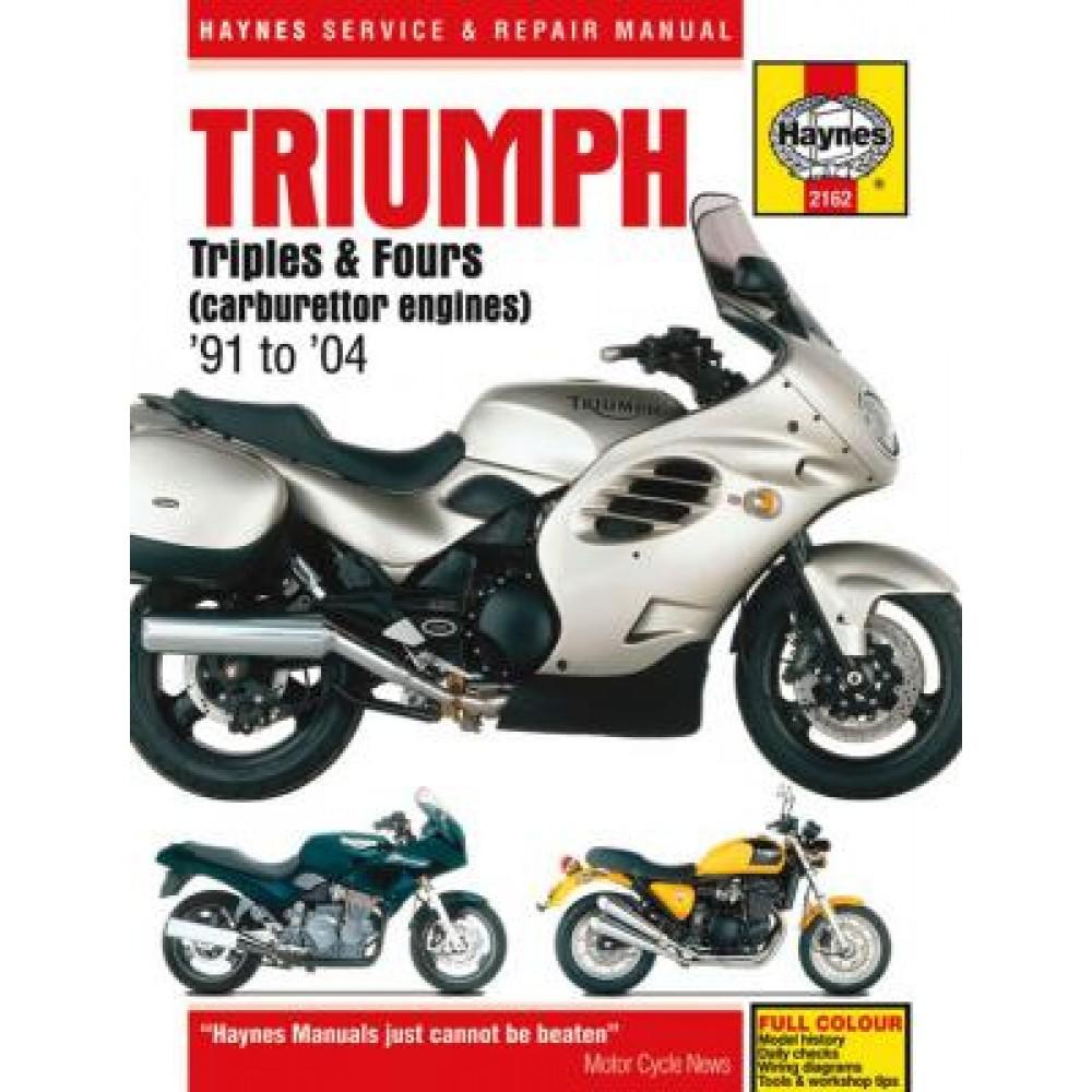 Haynes Manuals WORKSHOP MANUAL - TRIUMPH 900cc TRIPLES & 1200cc FOURS