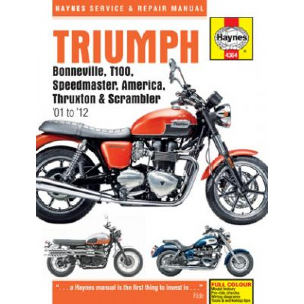 Haynes Manuals WORKSHOP MANUAL - TRIUMPH 790cc & 865cc TWINS