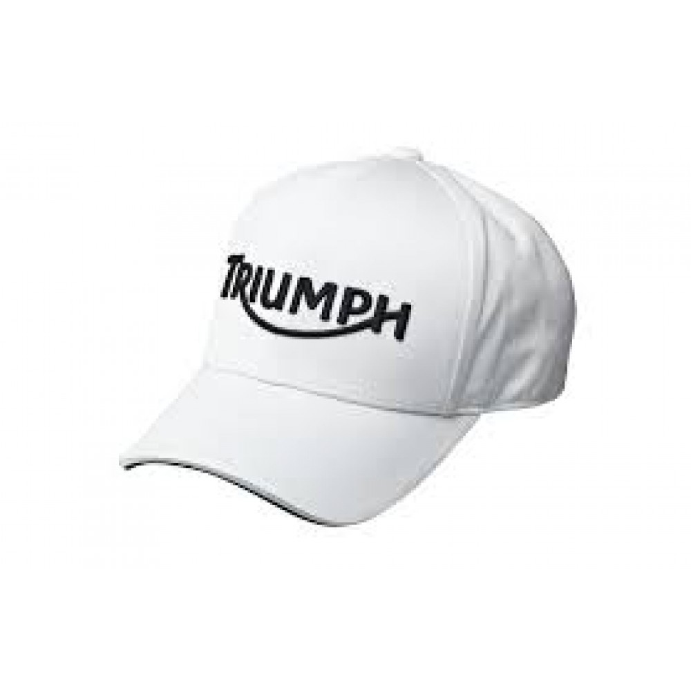 TRIUMPH LOGO CAP WHITE