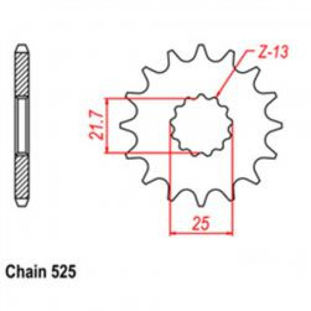 14T 525 FRONT SPROCKET - TRIUMPH MOTORCYCLE