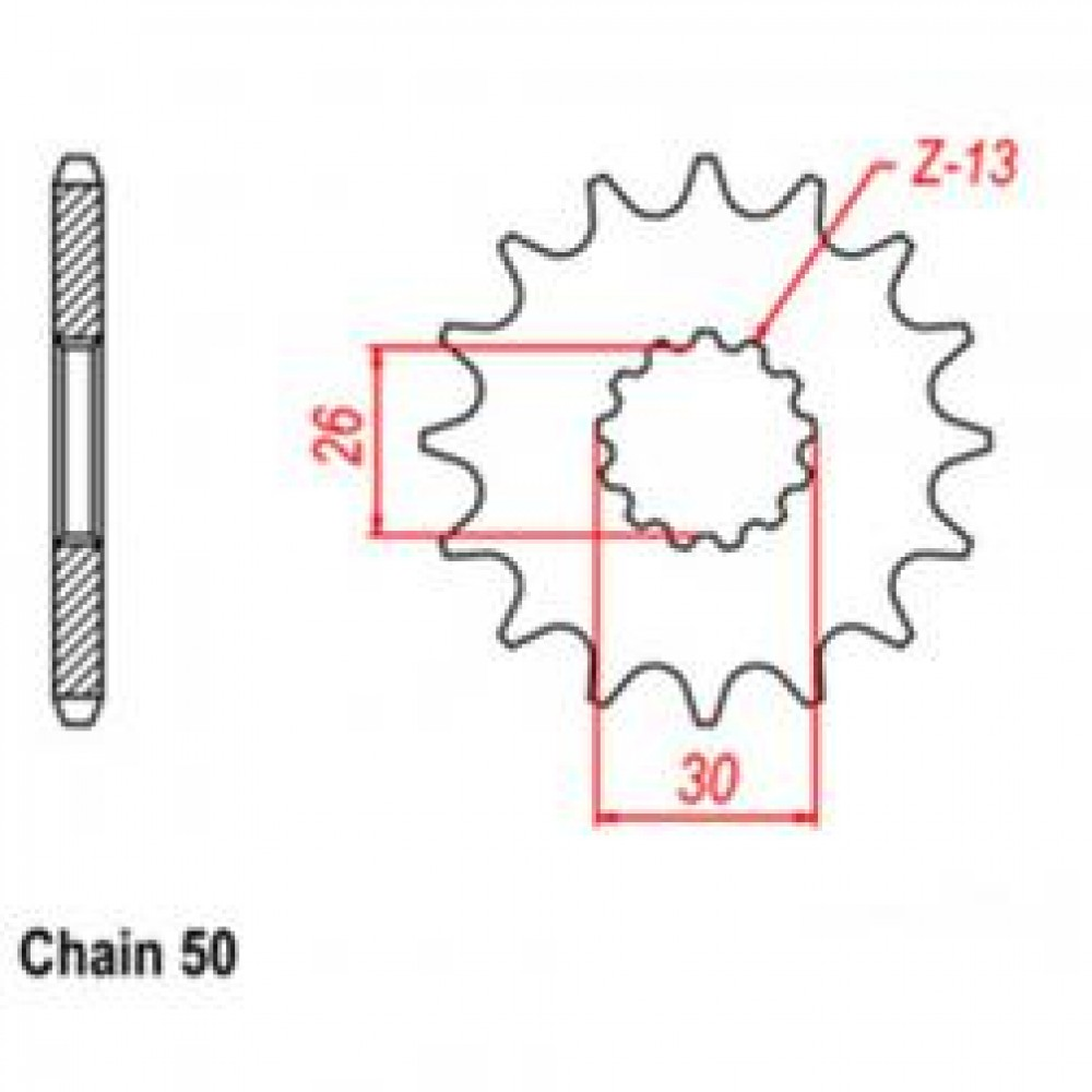 19T 530 FRONT SPROCKET - TRIUMPH MOTORCYCLE