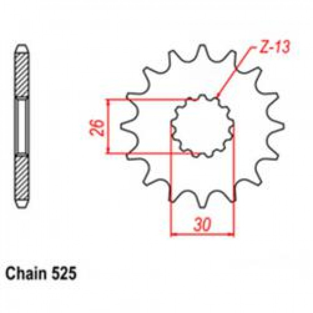 17T 525 FRONT SPROCKET - TRIUMPH MOTORCYCLE