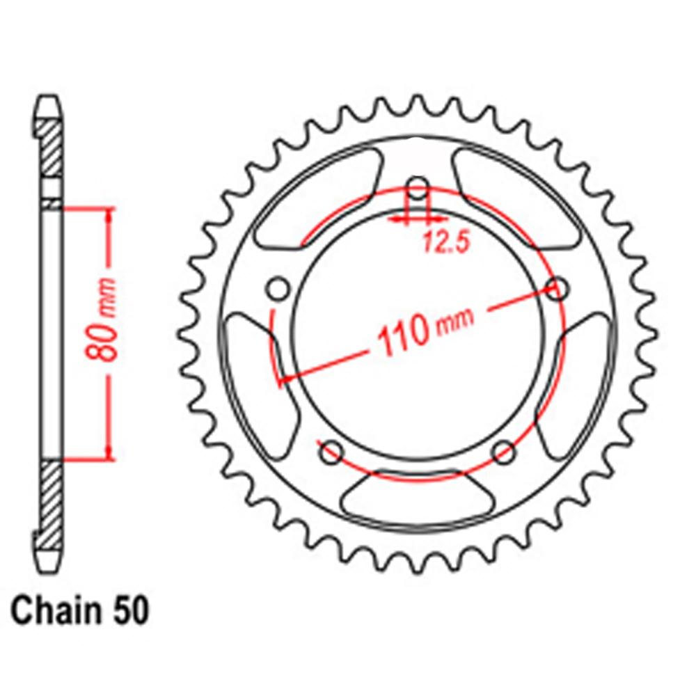 40T 530 REAR SPROCKET - TRIUMPH MOTORCYCLE