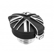 BlackJack Union Jack Monza Cap Kit for Triumph - Contrast Polished