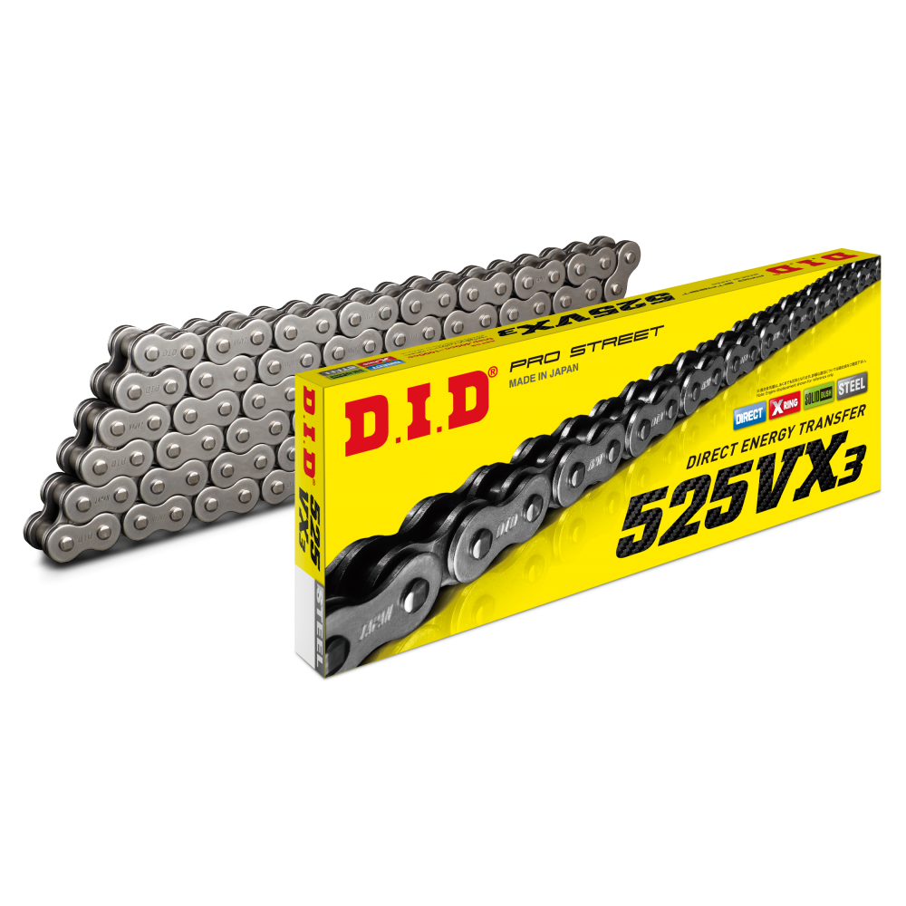 DID VX3 525 X-RING PRO STREET CHAIN 124L