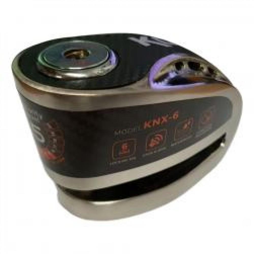 KNX6 ALARM DISC LOCK BRUSHED METAL