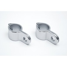 """MAGNUM QUICK CLAPMS FOR HIGHWAY PEGS 1-1/2"""" (38mm) CHROME - UNIVERSAL"""