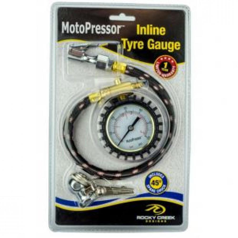 Motopressor Inline Tyre Gauge 0-60 PS