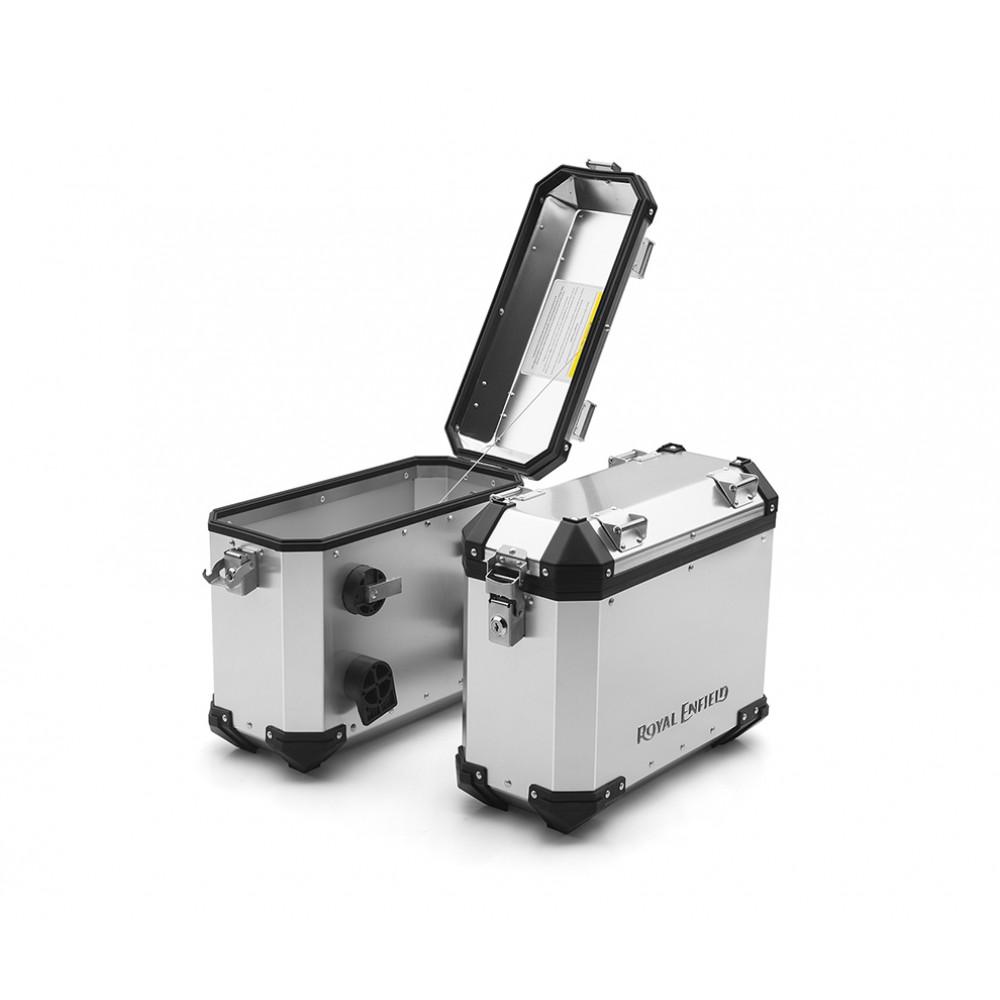 Aluminium Pannier, Pair, 26L, Silver - Himalayan 410 2017-