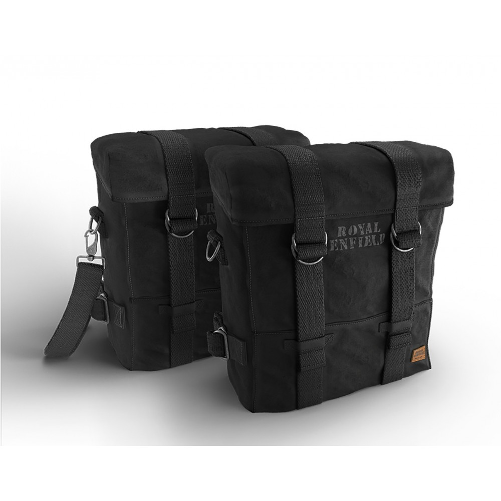 Military Pannier Pair, Black - Classic 350 & 500