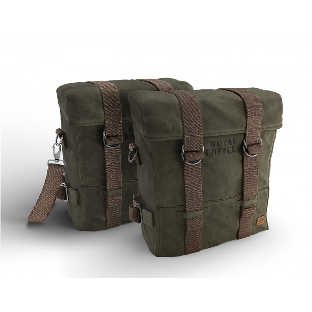 Military Pannier Pair, Olive - Classic 350 & 500
