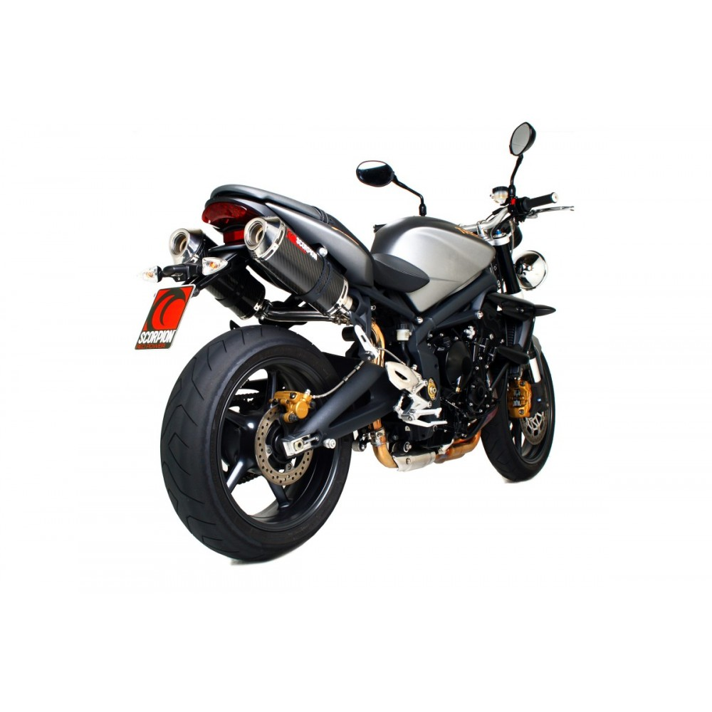 FACTORY OVAL CARBON TWIN EXHAUST - STREET TRIPLE 2007-2012