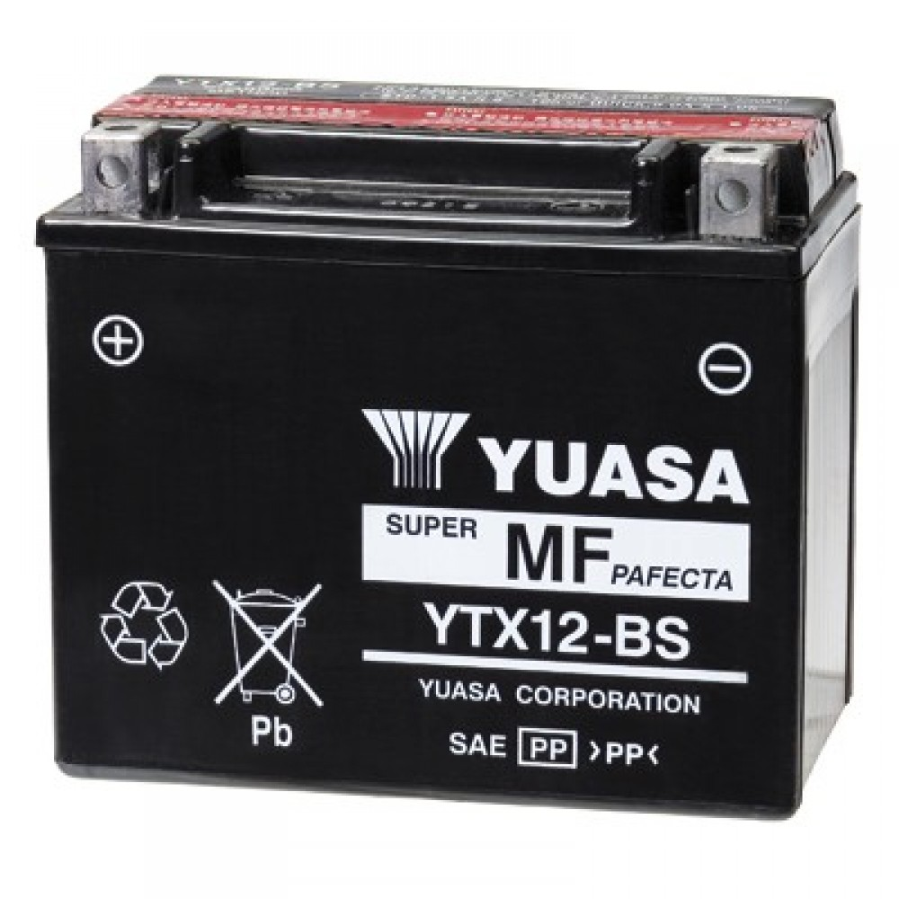SUPER MAINTENANCE FREE - YTX12-BS BATTERY