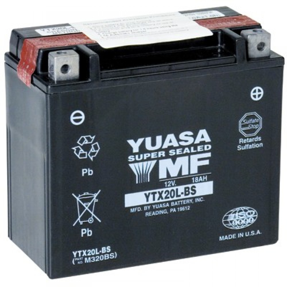 SUPER MAINTENANCE FREE - YTX20L-BS BATTERY