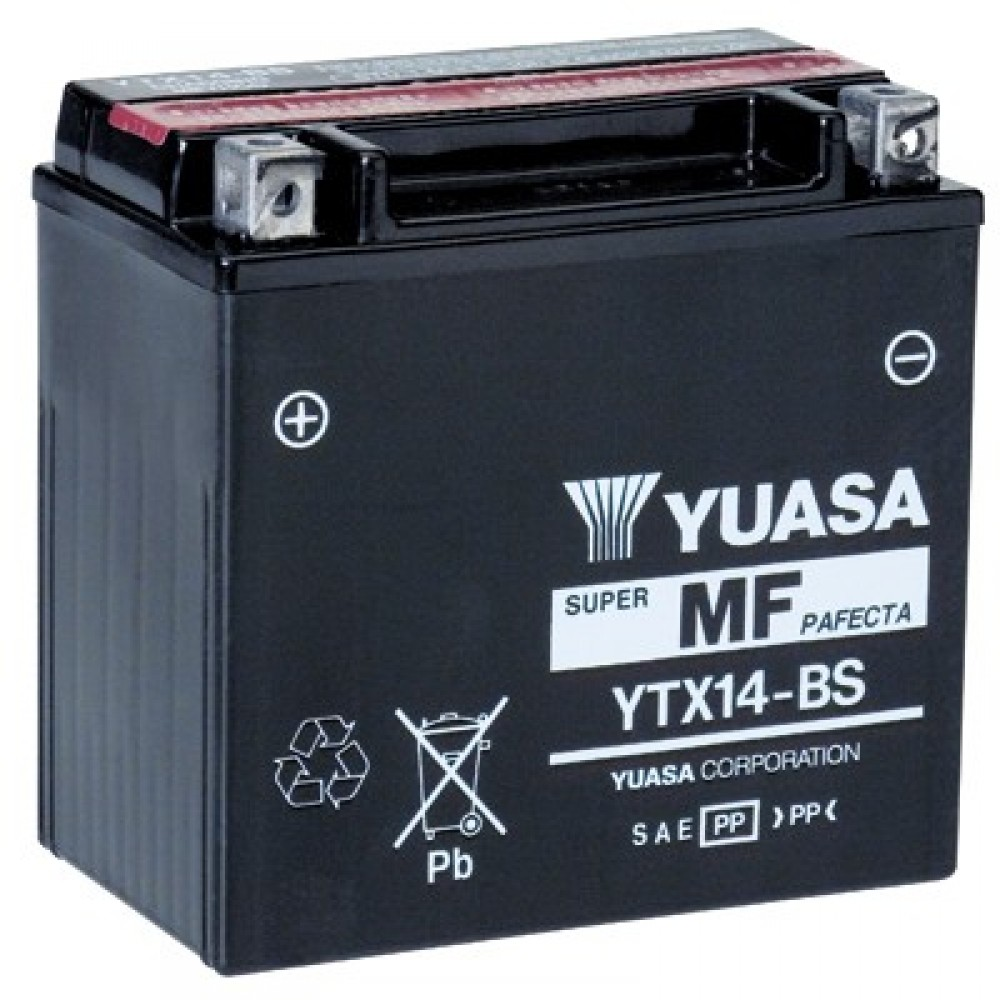 SUPER MAINTENANCE FREE - YTX14-BS BATTERY